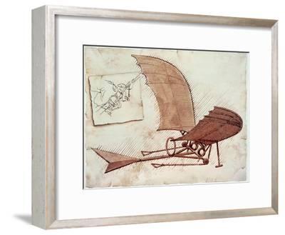 Flying Machine-Leonardo da Vinci-Framed Giclee Print