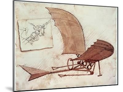 Flying Machine-Leonardo da Vinci-Mounted Giclee Print