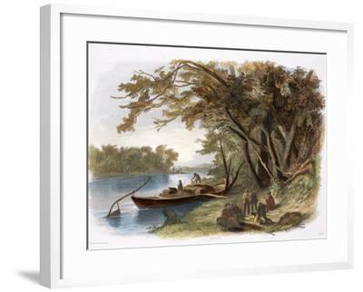 Encampment of the Travellers on the Missouri-Karl Bodmer-Framed Giclee Print