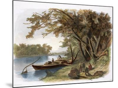 Encampment of the Travellers on the Missouri-Karl Bodmer-Mounted Giclee Print