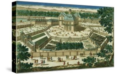 View and Perspective of the Salon De La Menagerie at Versailles--Stretched Canvas Print