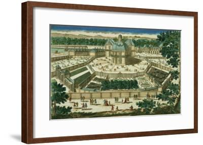 View and Perspective of the Salon De La Menagerie at Versailles--Framed Giclee Print