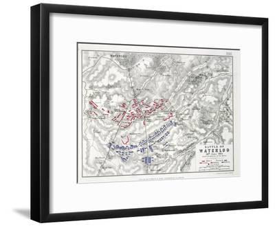 Battle of Waterloo, 18th June 1815, Sheet 1st-Alexander Keith Johnston-Framed Giclee Print