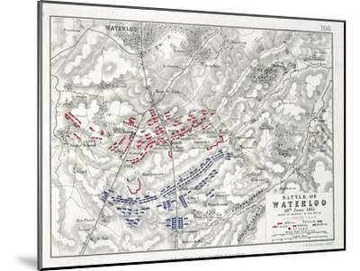 Battle of Waterloo, 18th June 1815, Sheet 1st-Alexander Keith Johnston-Mounted Giclee Print