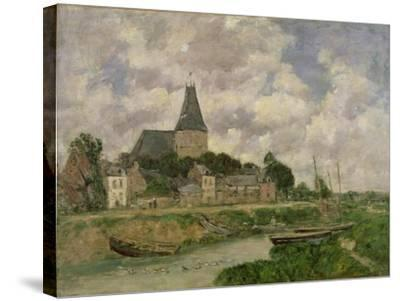 Quittebeuf, 1893-Eug?ne Boudin-Stretched Canvas Print