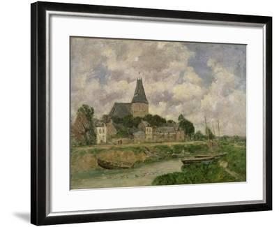 Quittebeuf, 1893-Eug?ne Boudin-Framed Giclee Print