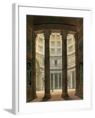"Interior of the Pantheon, Rome, from ""Le Costume Ancien Et Moderne""- Fumagalli-Framed Giclee Print"