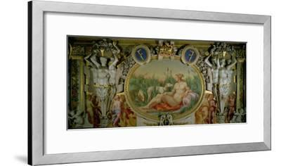 The Nymph of Fontainebleau, Detail of Decorative Scheme in the Gallery of Francis I, 1530-40-Rosso Fiorentino (Battista di Jacopo)-Framed Giclee Print