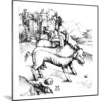 Monstrous Pig-Albrecht D?rer-Mounted Giclee Print