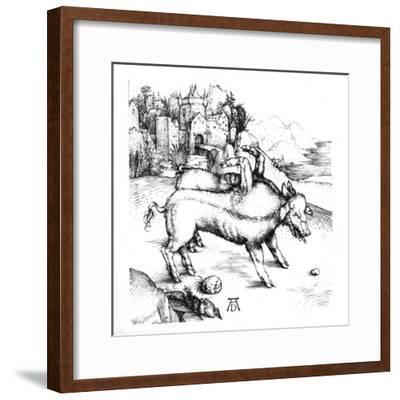 Monstrous Pig-Albrecht D?rer-Framed Giclee Print