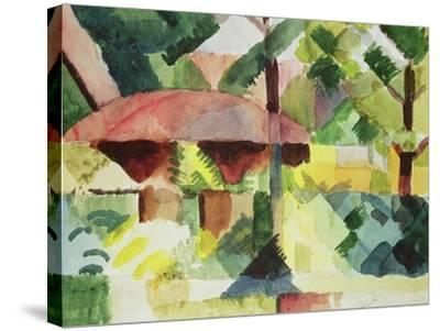 The Garden, 1914-Auguste Macke-Stretched Canvas Print