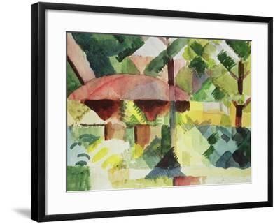 The Garden, 1914-Auguste Macke-Framed Giclee Print