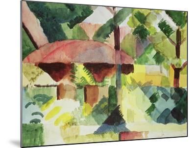 The Garden, 1914-Auguste Macke-Mounted Giclee Print