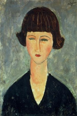 Young Brunette, 1917-Amedeo Modigliani-Stretched Canvas Print