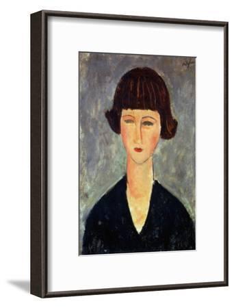 Young Brunette, 1917-Amedeo Modigliani-Framed Giclee Print