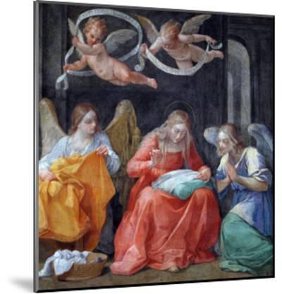 """The Virgin Sewing, from the """"Cappella Dell'Annunciata"""" 1610-Guido Reni-Mounted Giclee Print"""