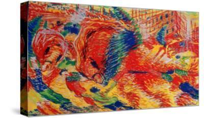 The City Rises, 1911-Umberto Boccioni-Stretched Canvas Print