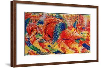 The City Rises, 1911-Umberto Boccioni-Framed Giclee Print