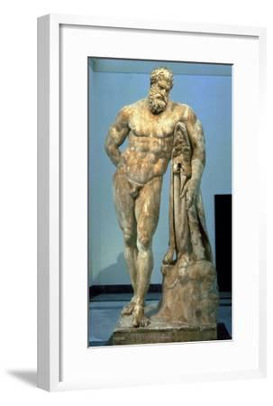 The Farnese Hercules, Roman Copy after a Greek Original by Lisippus, 3rd Century--Framed Giclee Print