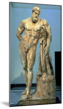 The Farnese Hercules, Roman Copy after a Greek Original by Lisippus, 3rd Century--Mounted Giclee Print