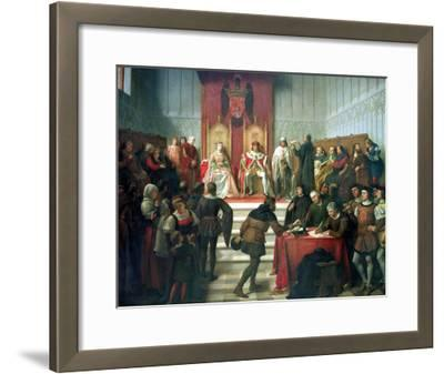 Catholic Rulers Administering Justice, 1860-Victor Manzano Y Mejorada-Framed Giclee Print