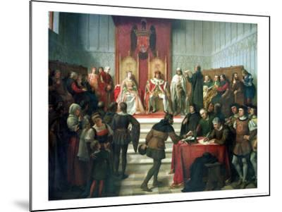 Catholic Rulers Administering Justice, 1860-Victor Manzano Y Mejorada-Mounted Giclee Print