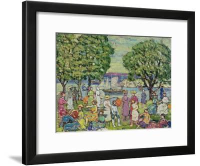 Gloucester Harbour-Maurice Brazil Prendergast-Framed Giclee Print