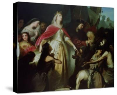 Detail of the Catholic Monarchs Receiving the Christian Captives after the Conquest of Malaga-Eduardo Cano de la Peña-Stretched Canvas Print