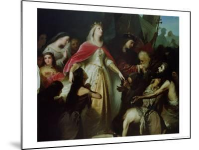 Detail of the Catholic Monarchs Receiving the Christian Captives after the Conquest of Malaga-Eduardo Cano de la Peña-Mounted Giclee Print