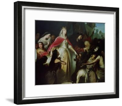 Detail of the Catholic Monarchs Receiving the Christian Captives after the Conquest of Malaga-Eduardo Cano de la Peña-Framed Giclee Print