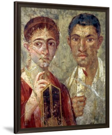Portrait of a Couple, Thought to be Paquio Proculo and His Wife--Framed Premium Giclee Print