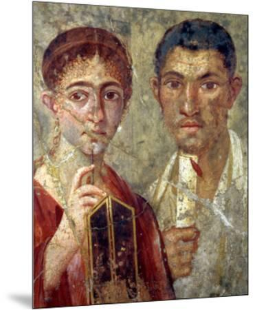 Portrait of a Couple, Thought to be Paquio Proculo and His Wife--Mounted Premium Giclee Print