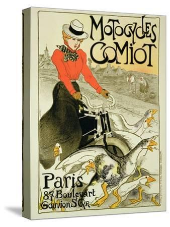 Reproduction of a Poster Advertising Comiot Motorcycles, 1899-Th?ophile Alexandre Steinlen-Stretched Canvas Print