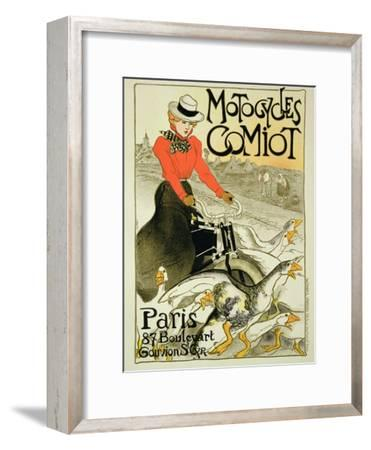 Reproduction of a Poster Advertising Comiot Motorcycles, 1899-Th?ophile Alexandre Steinlen-Framed Giclee Print