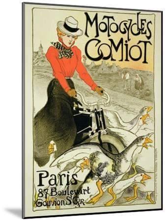 Reproduction of a Poster Advertising Comiot Motorcycles, 1899-Th?ophile Alexandre Steinlen-Mounted Giclee Print