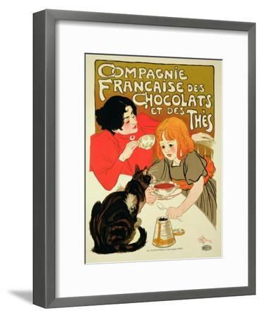 Reproduction of a Poster Advertising the French Company of Chocolate and Tea-Th?ophile Alexandre Steinlen-Framed Giclee Print