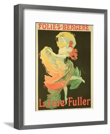 "Reproduction of a Poster Advertising ""Loie Fuller"" at the Folies-Bergere, 1893-Jules Ch?ret-Framed Giclee Print"