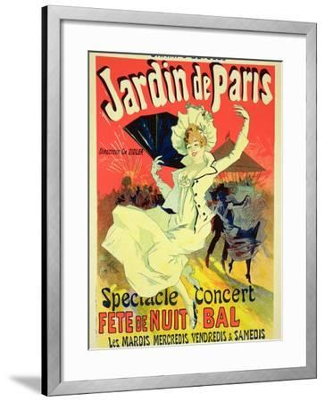 """Reproduction of a Poster Advertising the """"Jardin De Paris"""" on the Chanps Elysees, 1890-Jules Ch?ret-Framed Giclee Print"""
