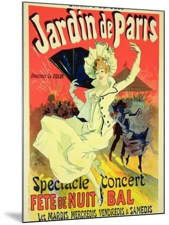 """Reproduction of a Poster Advertising the """"Jardin De Paris"""" on the Chanps Elysees, 1890-Jules Ch?ret-Mounted Giclee Print"""