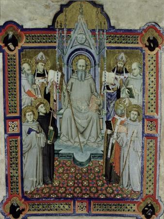 St. Benedict- Jacopo Di Cione-Framed Giclee Print