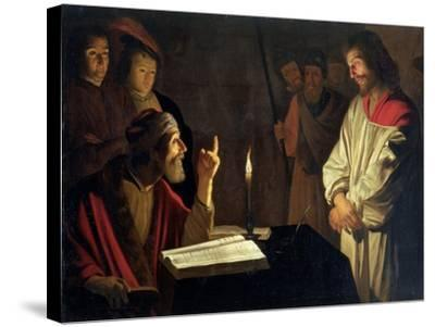 Christ Before Caiaphas-Gerrit van Honthorst-Stretched Canvas Print