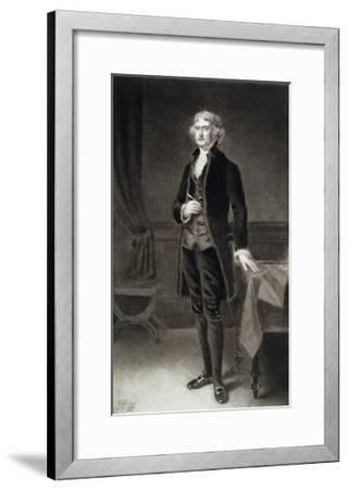 Thomas Jefferson, 3rd President of the United States of America, 1884, Published 1901-Eliphalet Frazer Andrews-Framed Giclee Print