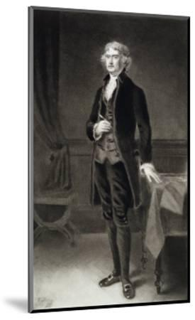 Thomas Jefferson, 3rd President of the United States of America, 1884, Published 1901-Eliphalet Frazer Andrews-Mounted Giclee Print
