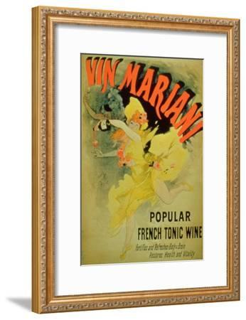 """Poster Advertising """"Mariani Wine, Popular French Tonic Wine""""-Jules Ch?ret-Framed Giclee Print"""