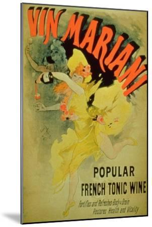 """Poster Advertising """"Mariani Wine, Popular French Tonic Wine""""-Jules Ch?ret-Mounted Giclee Print"""