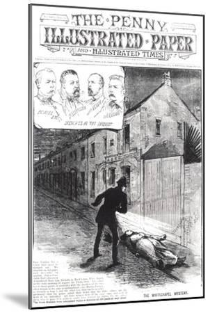 "The Whitechapel Mystery, from ""The Penny Illustrated Paper,"" 8th September 1888--Mounted Giclee Print"
