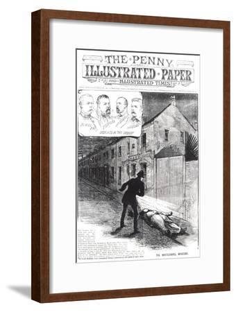 "The Whitechapel Mystery, from ""The Penny Illustrated Paper,"" 8th September 1888--Framed Giclee Print"
