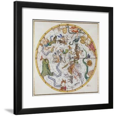 """Plate 27 from """"Atlas Coelestis,"""" by John Flamsteed, Published in 1729-Sir James Thornhill-Framed Giclee Print"""