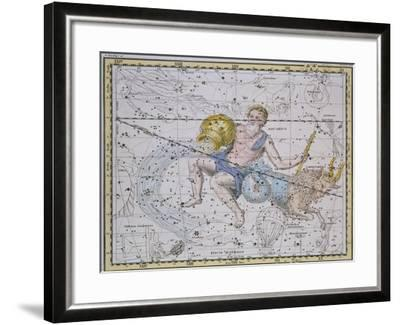"""Aquarius and Capricorn, from """"A Celestial Atlas,"""" Published in 1822-A^ Jamieson-Framed Giclee Print"""