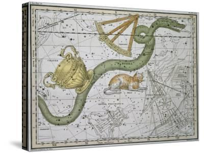 """Hydra, from """"A Celestial Atlas,"""" Published in 1822-A^ Jamieson-Stretched Canvas Print"""